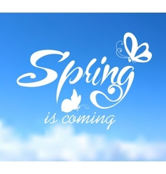 Typographic Design Lettering Spring design on vector image
