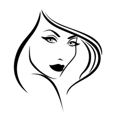 Young stylish woman vector image