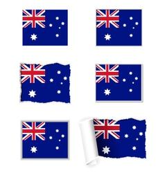 Australia flag set vector image