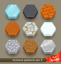 ground texture patterns for game-set 2 vector image