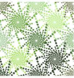 Half tone pattern with dots in green - monochrome vector
