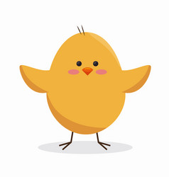 cute little chick icon vector image