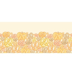 Pretzels horizontal seamless pattern background vector