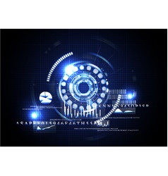 technological abstract digital business interface vector image