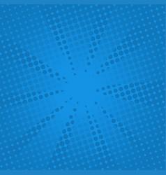 retro rays comic blue background vector image