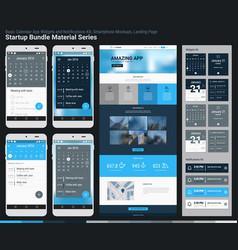 Startup bundle material series mobile app ui and vector