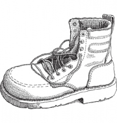 sketch of a work boot vector image