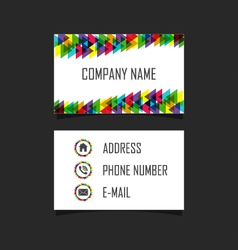 252business card 2 vector image