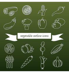 vegetableoutline vector image