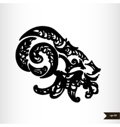Zodiac signs black and white - capricorn vector