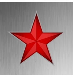 red star design vector image