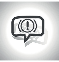 Curved alert message icon vector