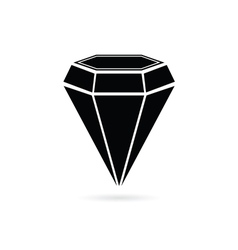 Diamond jewel black vector