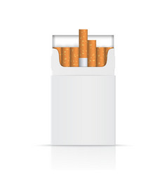 Opened pack of cigarettes vector