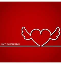 Valentine outline 1 vector