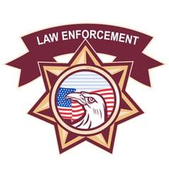 American law enforcement vector