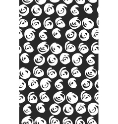 Seamless black and white flourish pattern vector