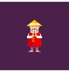 a Chinaman character vector image vector image