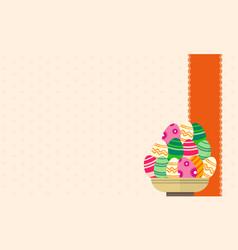 Art easter egg backgrounds vector
