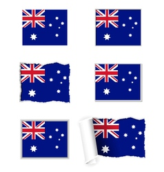 Australia flag set vector