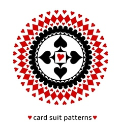 Card suit geometric ornament with a heart vector image vector image
