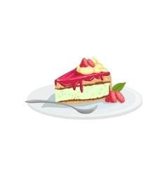 Cheesecake european cuisine food menu item vector