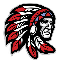 chief mascot head vector image vector image