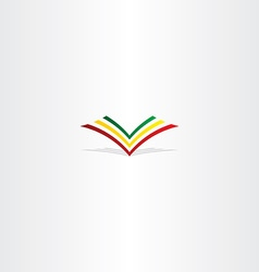 Colorful book logo sign element vector