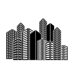 Contour buildings and city scene icon image vector