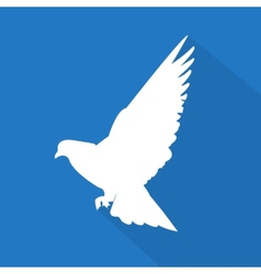 Creative dove icon vector image