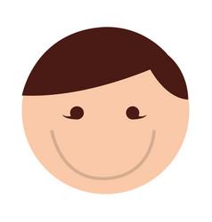 Cute round man face cartoon vector