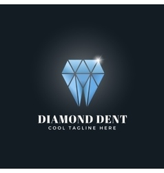 Diamond Dent Abstract Concept Emblem Sign vector image