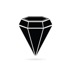diamond jewel black vector image