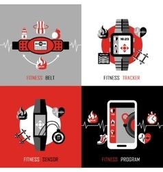 Fitness tracker 2x2 design concept vector