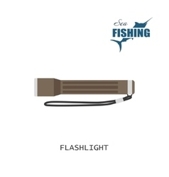 Flashlight item of fishing vector