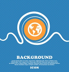 Globe icon sign Blue and white abstract background vector image