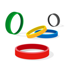 group of colored ring vector image