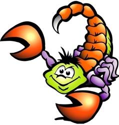 Hand-drawn of an danger scorpion vector