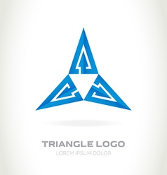 logo made of triangles with arrows Abstract logo vector image
