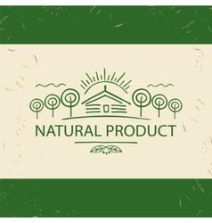 Logo natural product hand drawn tree vector