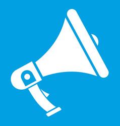 megaphone icon white vector image