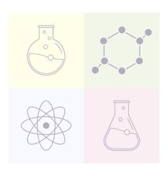 Modern icon laboratory chemistry medicine vector image