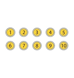 Numbers Set Icons vector image
