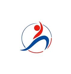 people sport yoga beauty logo vector image vector image
