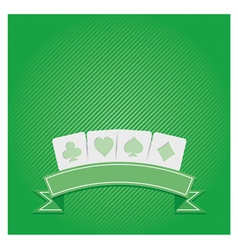 POKER background vector image