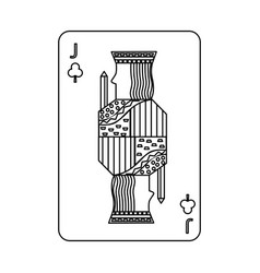 poker playing card jack club vector image