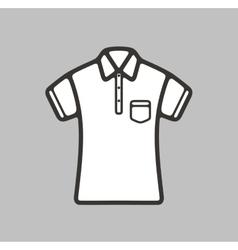 Polo t-shirt icon vector