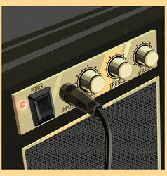 Retro guitar amplifier vector