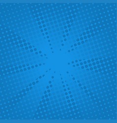 retro rays comic blue background vector image vector image