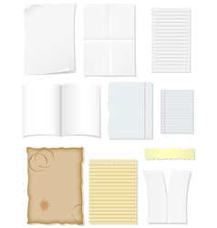 set blank sheets of paper for design vector image